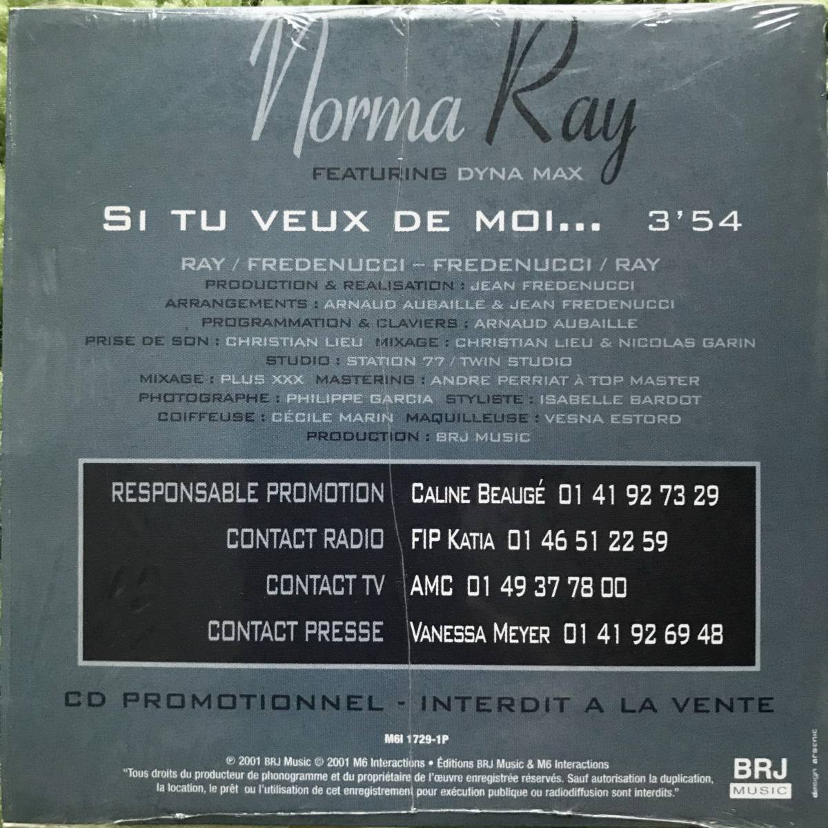 【CD Single】Norma Ray Featuring Dyna Max/Si Tu Veux De Moi...France盤