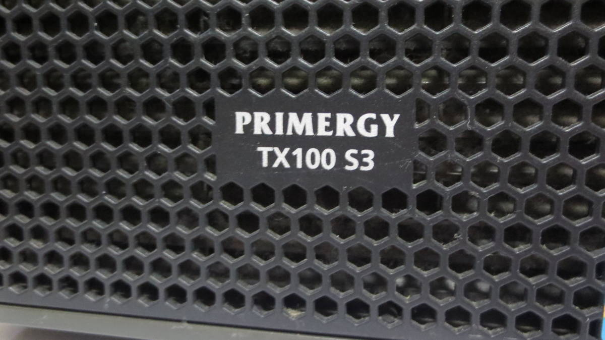 【ジャンク】Fujitsu サーバーデスクトップパソコン PRIMERGY TX100S3 富士通_画像3