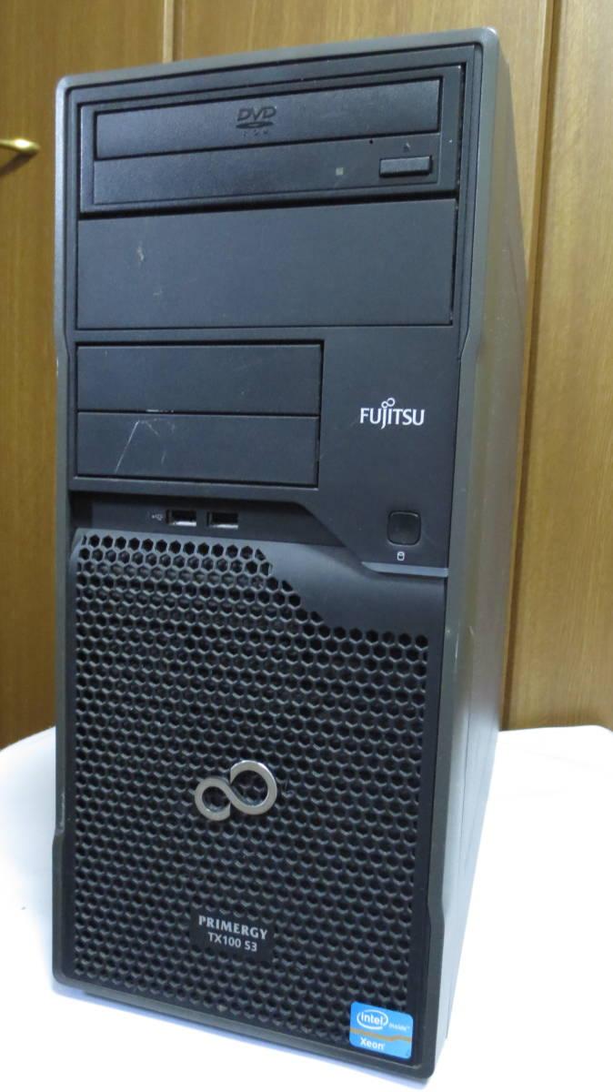 【ジャンク】Fujitsu サーバーデスクトップパソコン PRIMERGY TX100S3 富士通_画像1