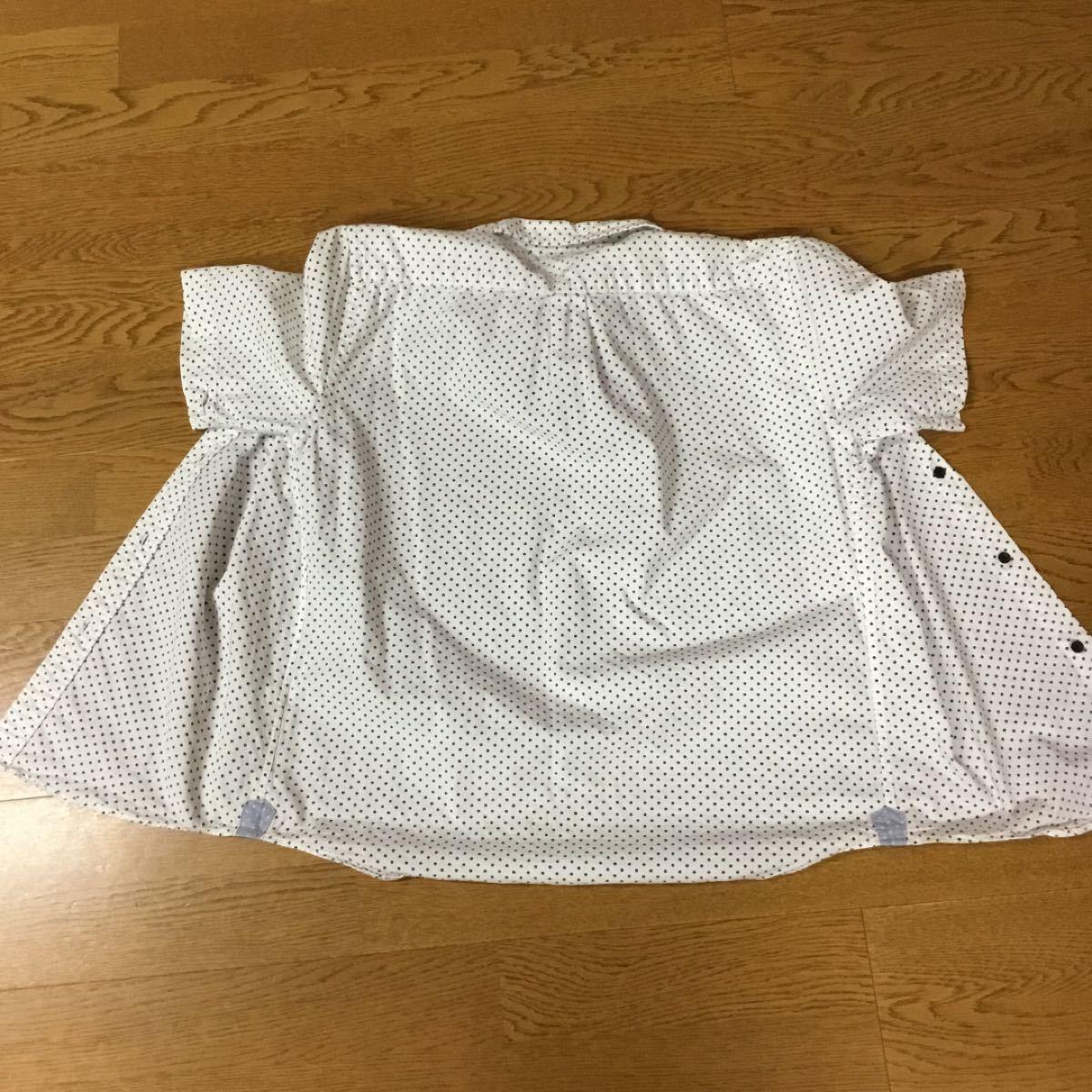 半袖シャツ ボタンダウンシャツ ドット柄