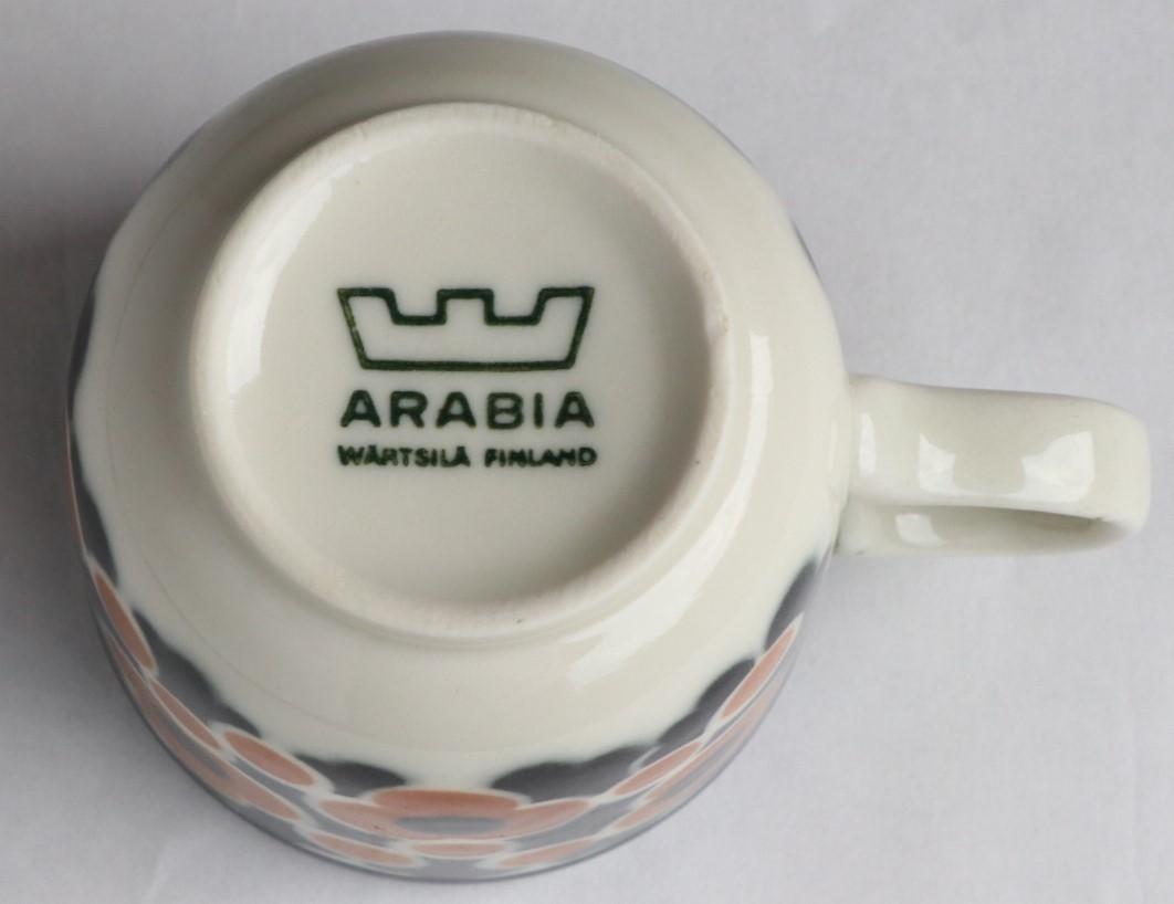 3年のみ製作 ARABIA アラビア kara カップ&ソーサー Anja Jaatinen-Winquist 北欧ヴィンテージ(検索)マリメッコ Taika saara_画像5
