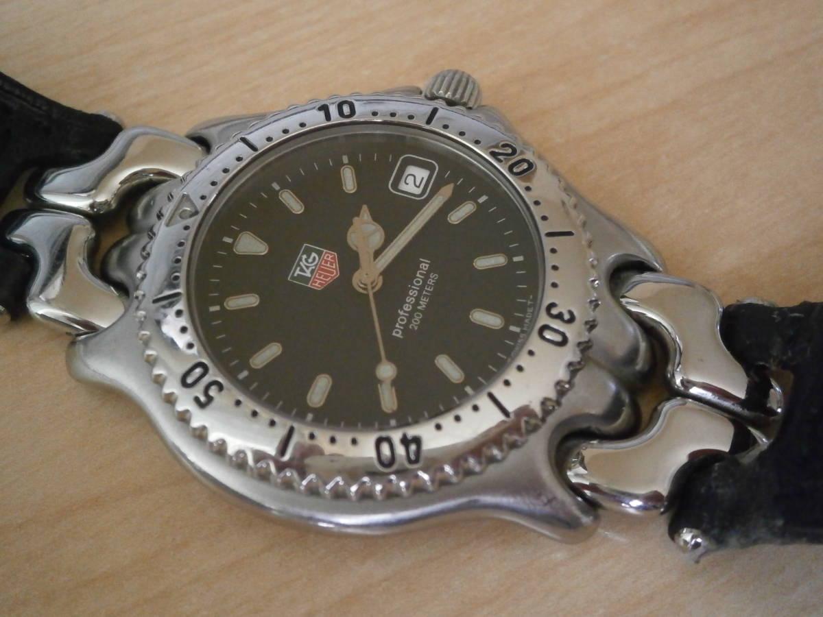 タグホイヤー TAG Heuer 腕時計 クォーツ プロフェッショナル200・革ベルトの難あり。_画像1