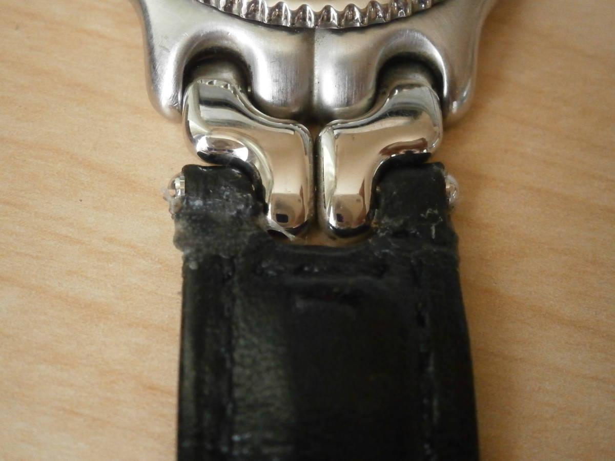 タグホイヤー TAG Heuer 腕時計 クォーツ プロフェッショナル200・革ベルトの難あり。_画像4