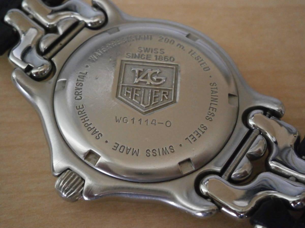 タグホイヤー TAG Heuer 腕時計 クォーツ プロフェッショナル200・革ベルトの難あり。_画像6