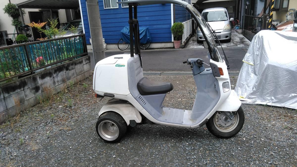 「ジャイロキャノピー 2st ミニカー登録車 2年放置 現状不動」の画像3