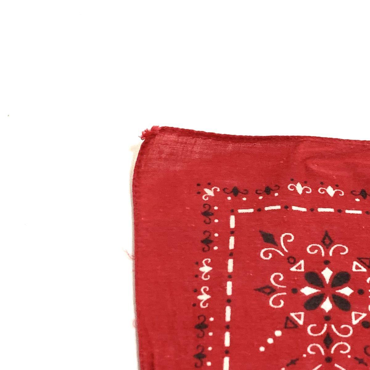 ■60s 60年代 FAST COLOR エレファントブランド 上鼻 幾何学模様 耳付き ビンテージ バンダナ 古着雑貨 小物 リメイク生地 ファブリック■_画像4