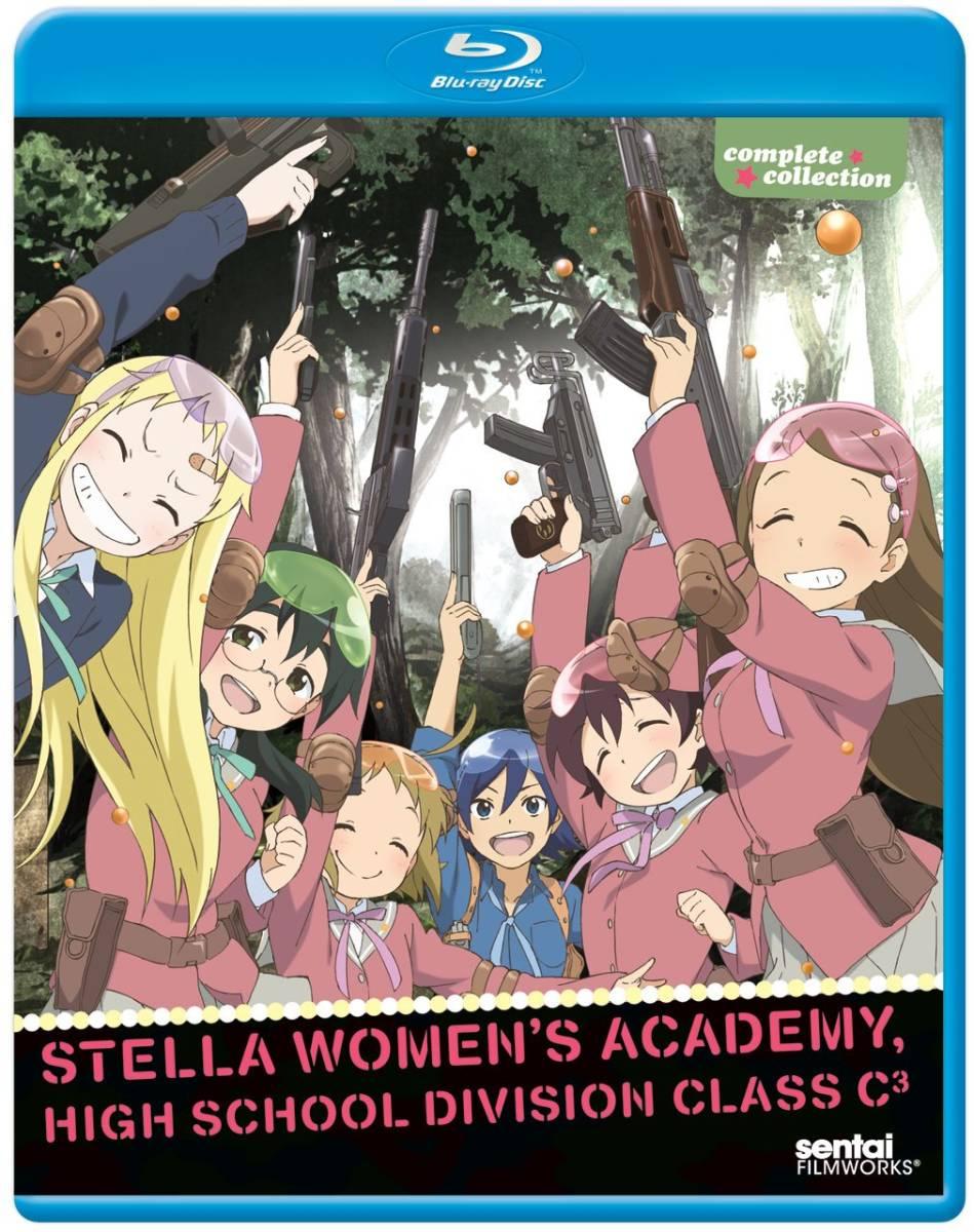 【送料込】ステラ女学院高等科C3部 全13話 (北米版 ブルーレイ) Stella Women's Academy blu-ray BD