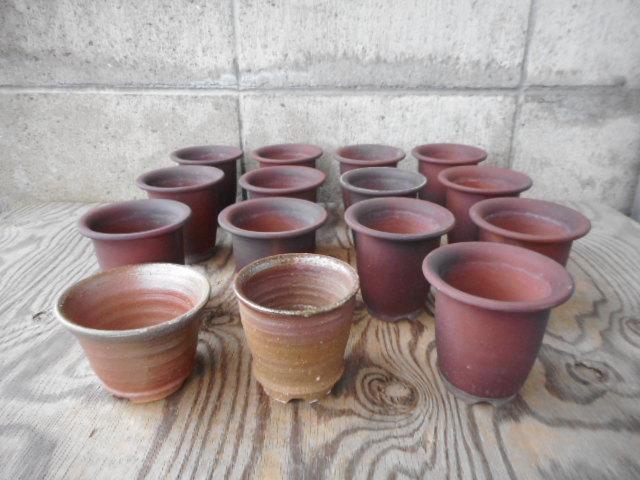 小町蘭鉢 山草鉢 各種 2,8号~3,5号 15個 中古 (f20529)  ネジバナ 山野草 ウチョウラン 古典植物