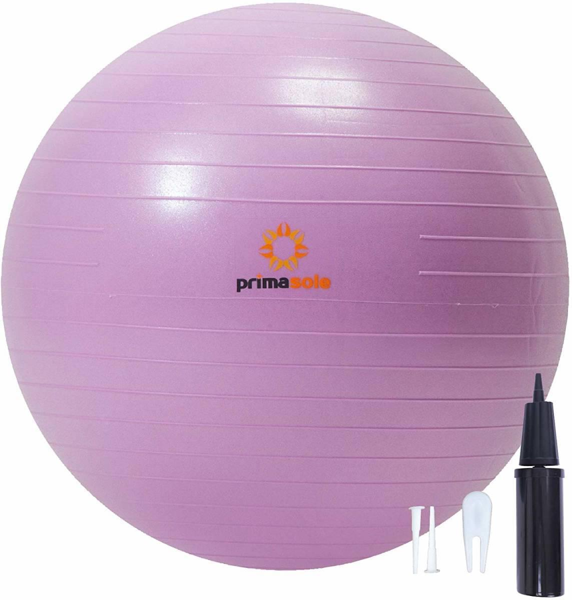 【限定ブランド】プリマソーレ(primasole) フィットネスボール 【55cm】空気入れ付き バランスボール フィットネス ピラティス