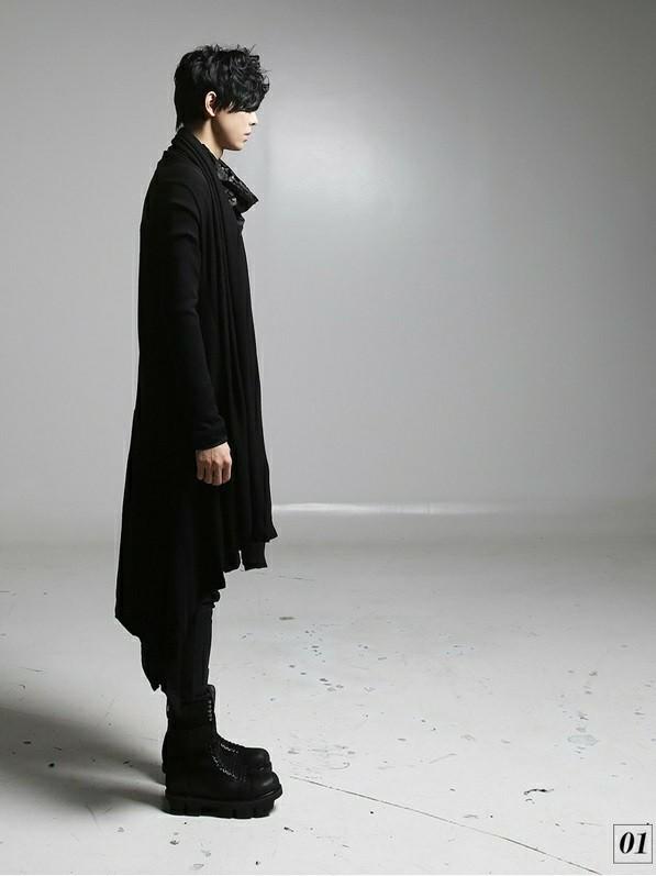 ロック系 黒 ロング丈 カーディガン unisex 日焼け対策 羽織