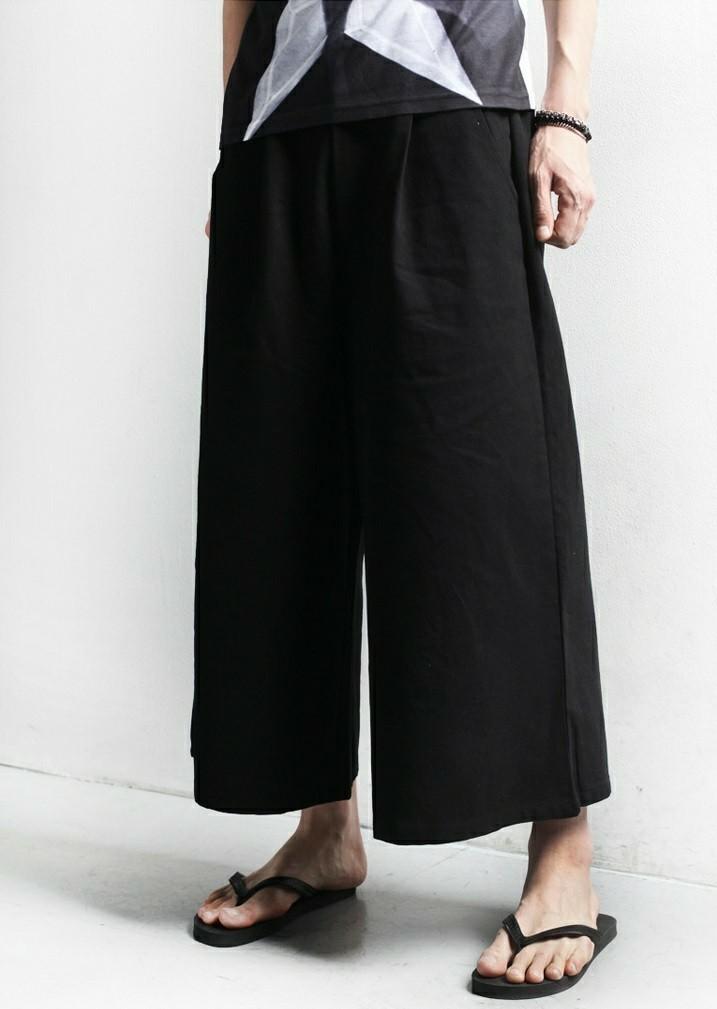 モテパンツ ロック系 ワイドパンツ 黒 袴パンツ unisex