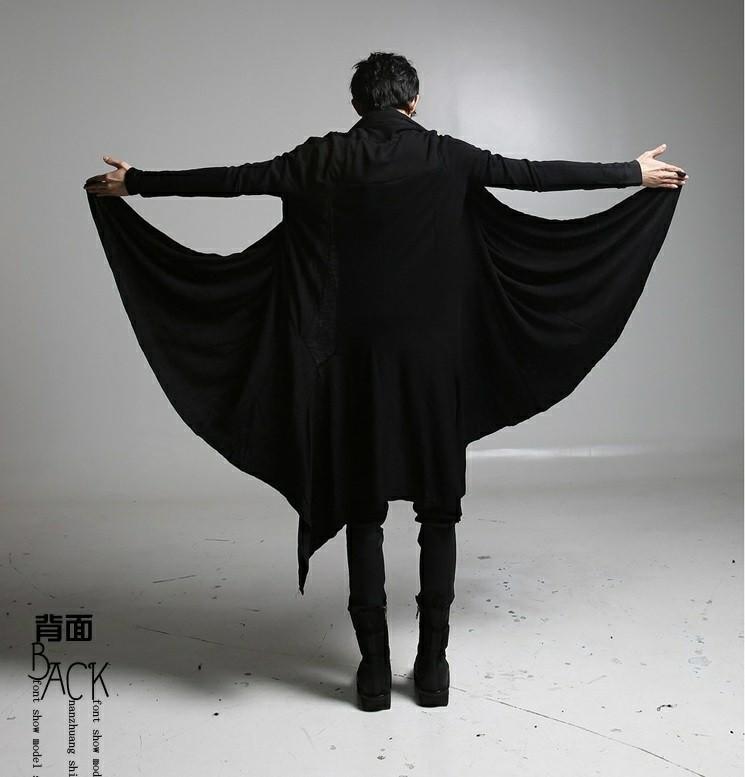 モテ服 黒 モード系 ロングカーディガン 羽織 オシャレ 男女兼用 個性的