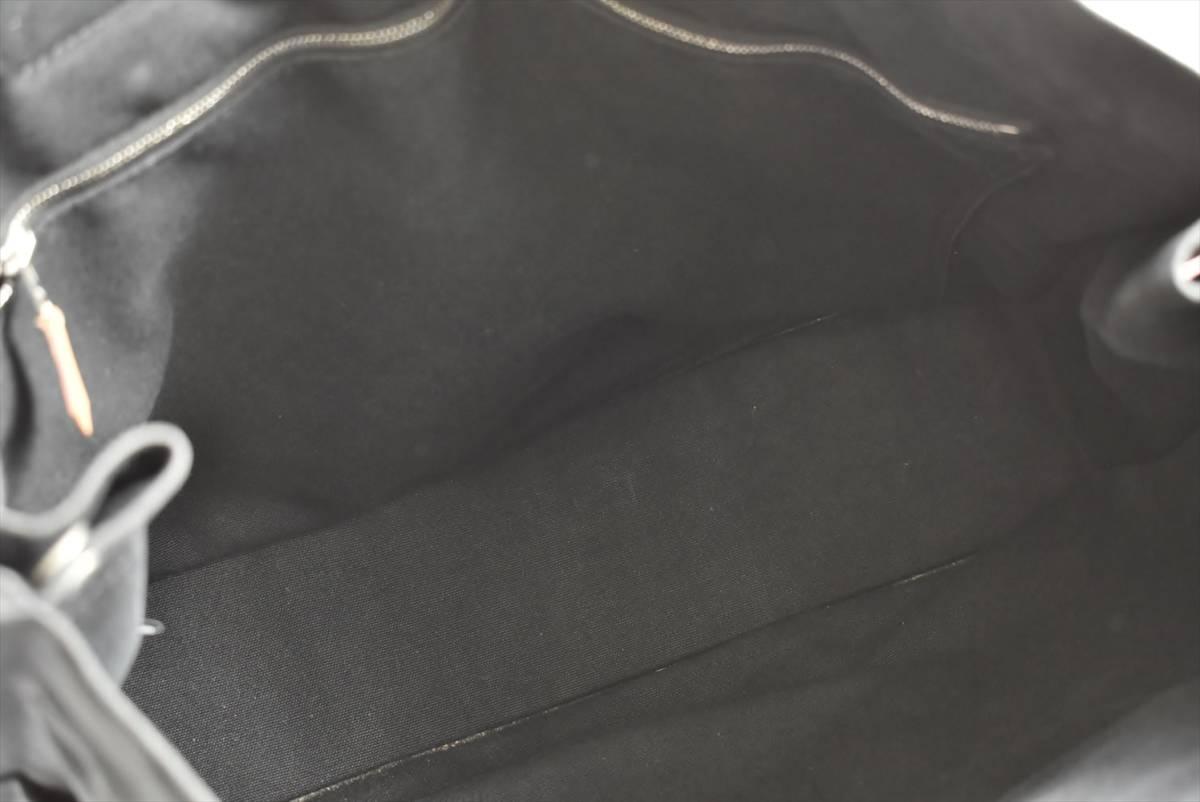 エルメス HERMES トートバッグ フールトゥトートMM ブラック グレー キャンバス → 2007LA002_画像6