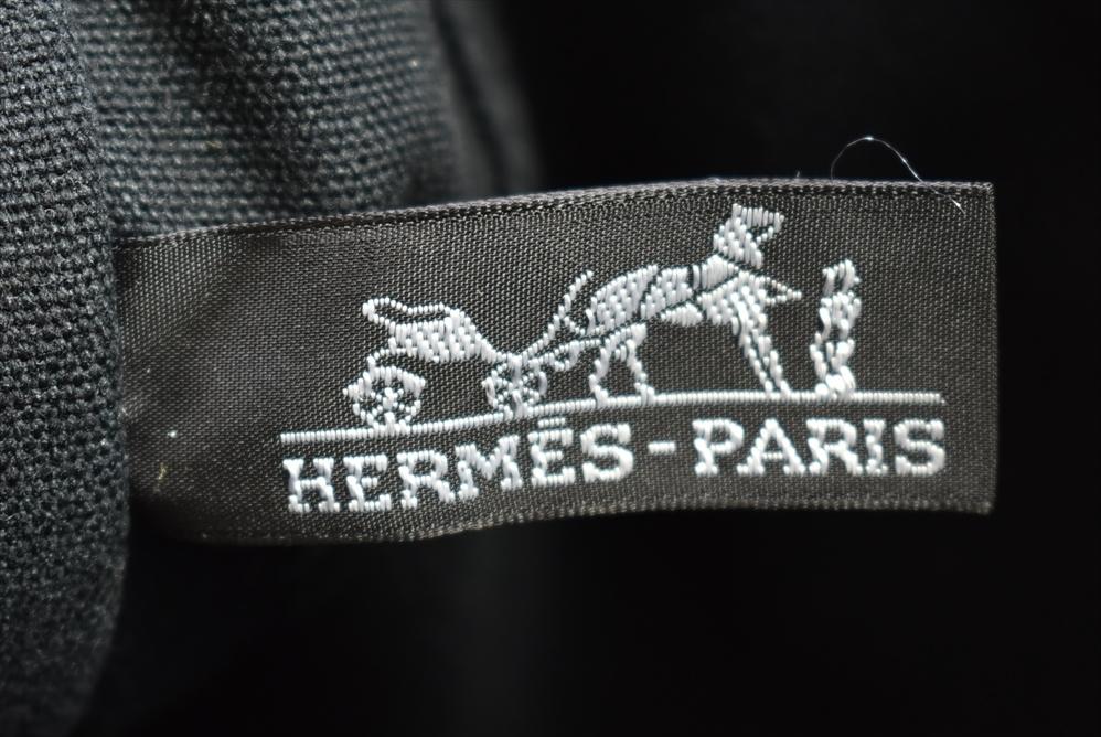 エルメス HERMES トートバッグ フールトゥトートMM ブラック グレー キャンバス → 2007LA002_画像7