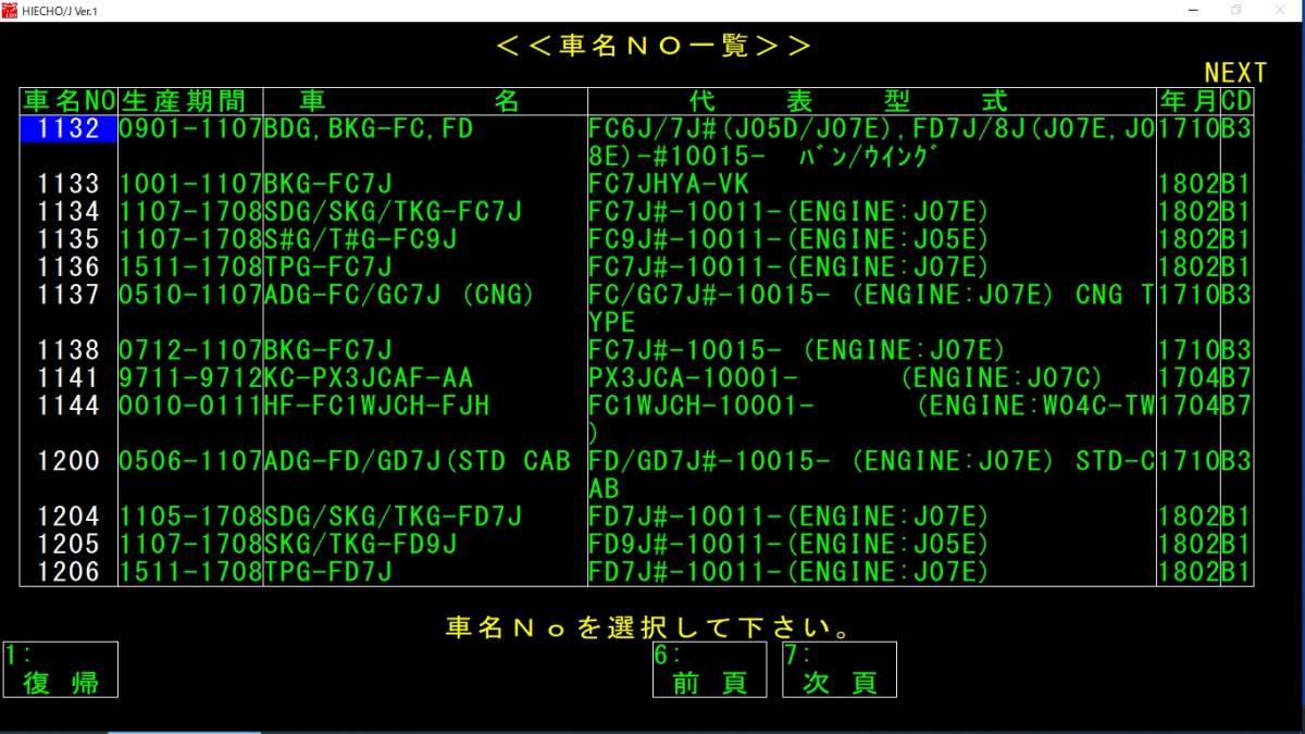 ☆電子パーツカタログPC i3 SSD Office2019 ダイハツ スバル20/1版 ニッサン19/9版 トヨタ18/6版 ベンツ18/4版 ヒノ18/2版 他_画像7