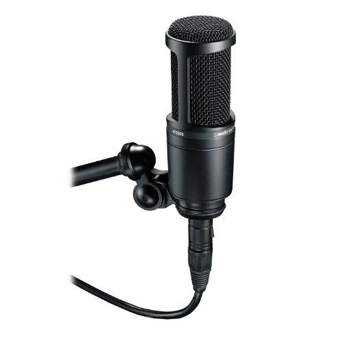 ブラック audio-technica オーディオテクニカ コンデンサーマイクロホン AT2020 動画配信・宅録・ポッドキャス_画像2