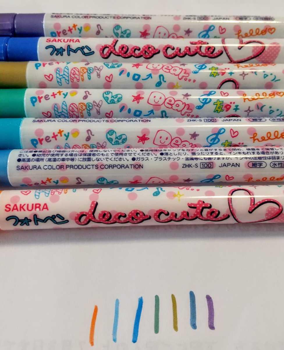 チェキ ★ フォトペン deco cute サインペン ペン 水性ペン 写真 マーカー お絵描き サイン_画像2