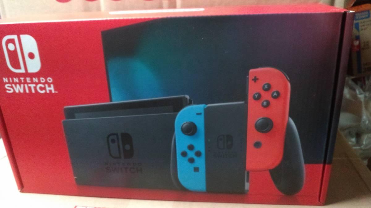 送料無料★新品 Nintendo Switch 任天堂 ニンテンドー スイッチ 本体 Joy-Con(L) ネオンブルー/(R) ネオンレッド_画像1