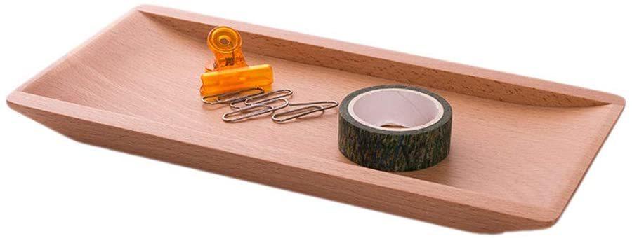 ナチュラル Hexun コイントレー 木製 キャッシュトレイ 会計盆 ペントレイ木製 小物置き トレー 多機能おしゃ_画像1