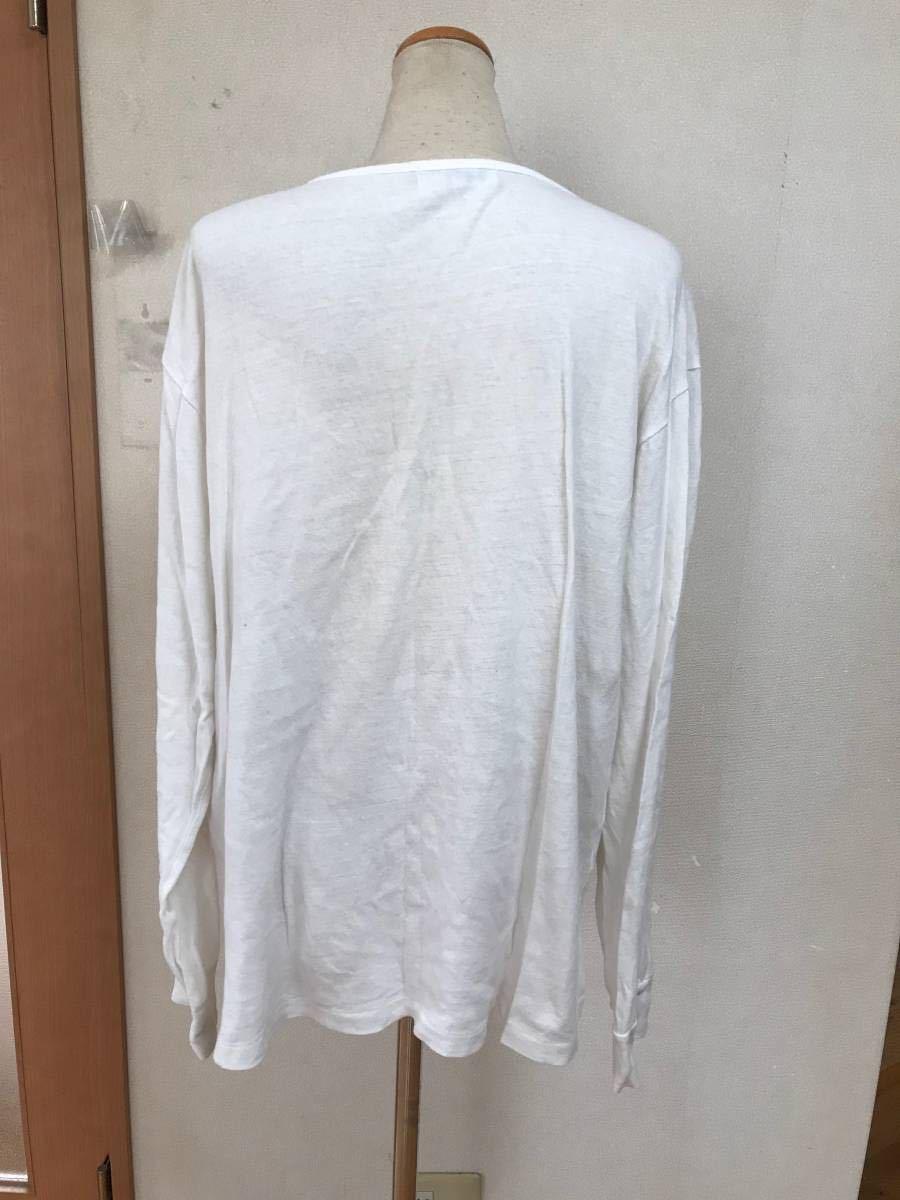 即決 セール yohji yamamoto pour homme ヘンリーネック 長袖 カットソー Tシャツヨウジヤマモト プールオム y-3 y's_画像3