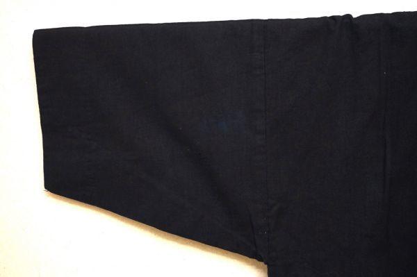 1349◆印半纏◆藍染木綿古布◆長半纏◆背紋「ヤマに吉」◆山吹色の半纏帯◆アンティーク◆リメイク素材◆法被◆_画像9