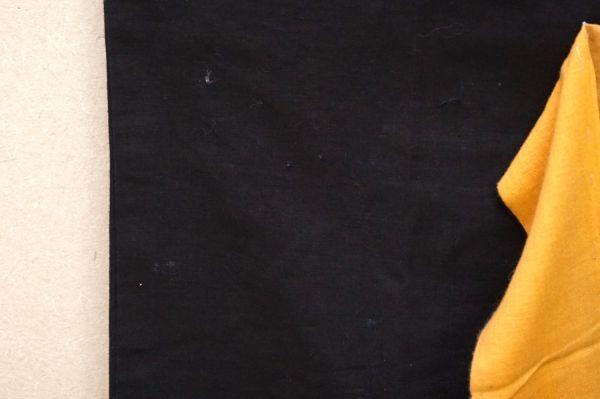 1349◆印半纏◆藍染木綿古布◆長半纏◆背紋「ヤマに吉」◆山吹色の半纏帯◆アンティーク◆リメイク素材◆法被◆_画像5