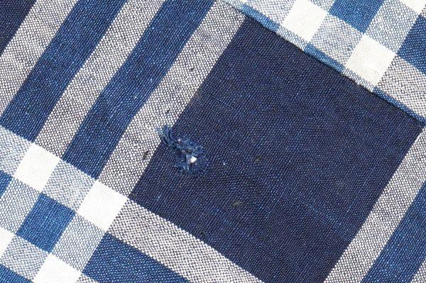 1435◆襤褸◆ボロ◆格子◆布団皮◆藍染木綿古布◆継ぎ当て◆アンティーク◆リメイク素材_画像10