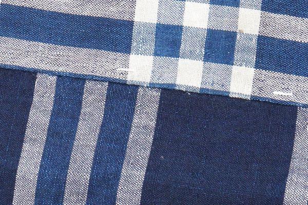 1435◆襤褸◆ボロ◆格子◆布団皮◆藍染木綿古布◆継ぎ当て◆アンティーク◆リメイク素材_画像8