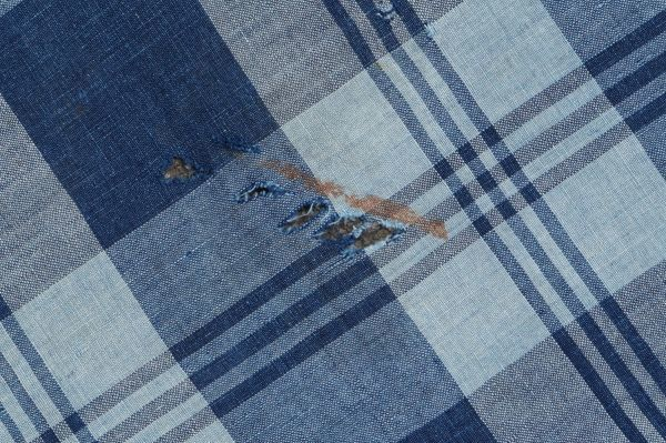 1436◆襤褸◆ボロ◆藍染木綿古布◆4幅◆格子◆継ぎ接ぎ◆継ぎ当て◆アンティーク◆リメイク素材◆_画像8
