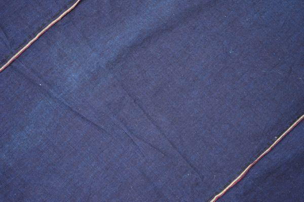 1449◆藍無地◆布団皮◆3幅◆木綿古布◆アンティーク◆リメイク素材◆_画像3