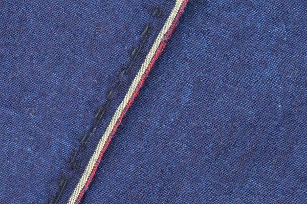 1449◆藍無地◆布団皮◆3幅◆木綿古布◆アンティーク◆リメイク素材◆_画像5