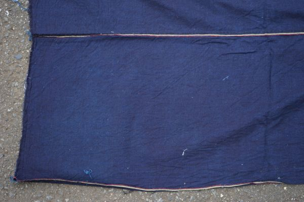 1449◆藍無地◆布団皮◆3幅◆木綿古布◆アンティーク◆リメイク素材◆_画像2