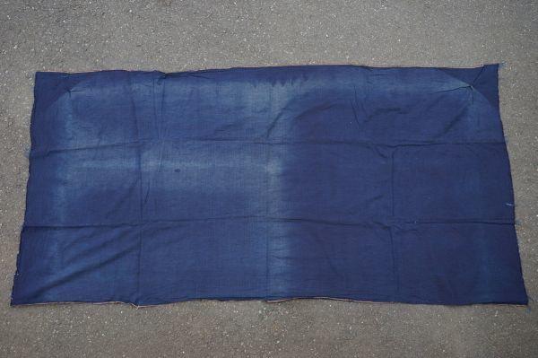 1449◆藍無地◆布団皮◆3幅◆木綿古布◆アンティーク◆リメイク素材◆_画像6