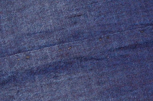 1449◆藍無地◆布団皮◆3幅◆木綿古布◆アンティーク◆リメイク素材◆_画像9