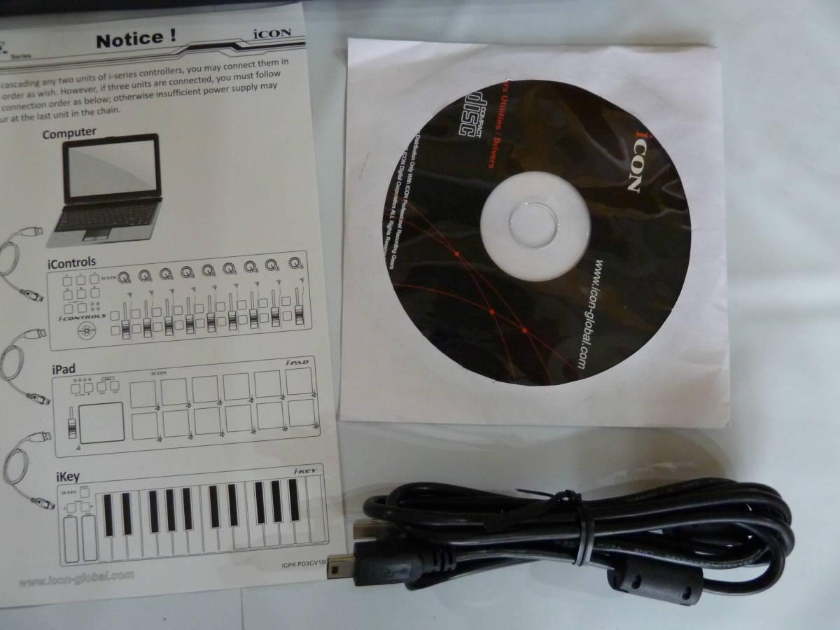 iCON i-CONTROLS USB/MIDIフェーダーコントローラー ブラック 【534】_画像4