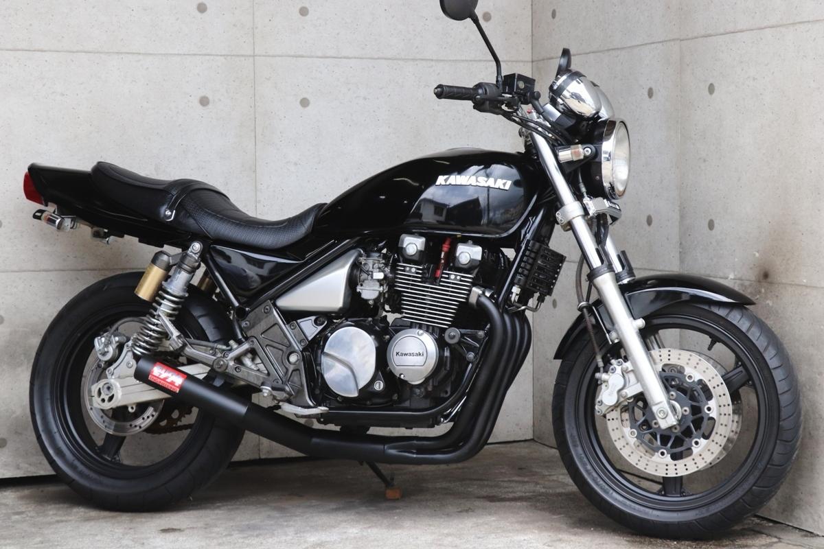 横浜~ Kawasaki ゼファー400χ G2 ブラックニューペイント カスタム 車検付き 綺麗 好調