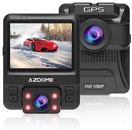 2020最新版 車内+車外カメラ搭載 ドライブレコーダー 前後カメラ 赤外線暗視ライト 1080PフルHD高画質 170度広角視野 LED信号機対策 操作簡_画像1