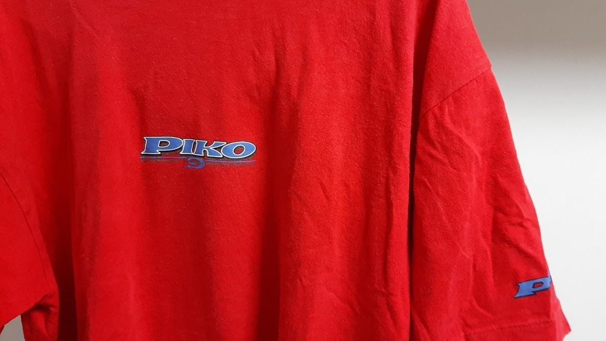 ピコ デザインTシャツ Logo 半袖Tシャツ 赤 レッド