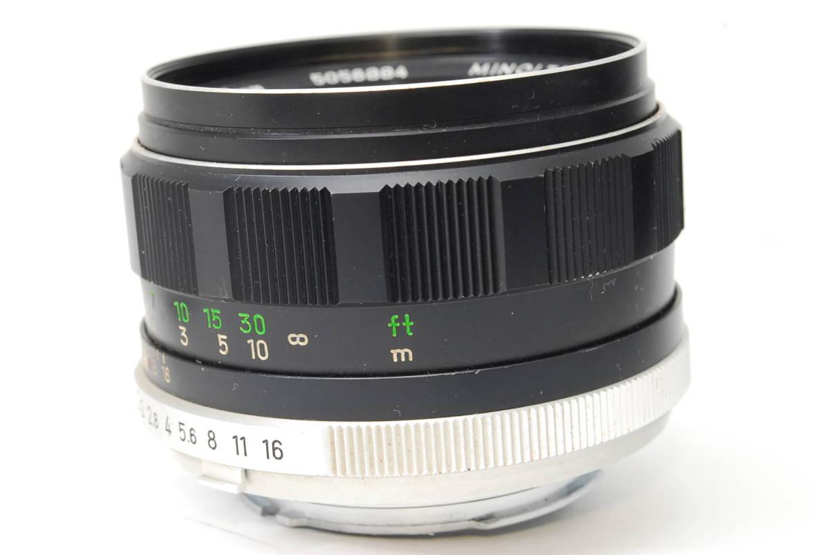 訳ありレンズ ミノルタ MINOLTA MC ROKKOR-PF 58mm F1.4 【5056884】 ♯8166_画像7
