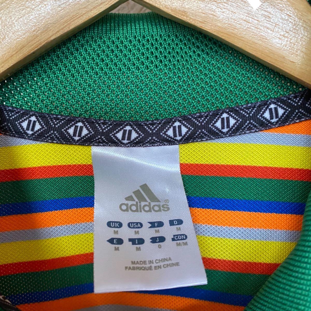 adidas アディダス ボーダー ポロシャツ
