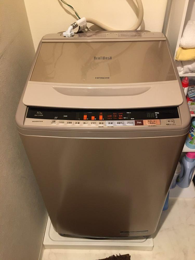 ☆1円スタート☆ HITACHI 日立全自動洗濯機 BW-V100B形 62L 洗濯容量 10Kg 50-60Hz共用 2