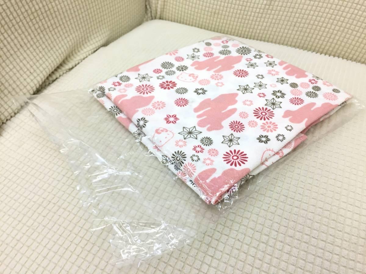 【風呂敷】エコバッグの代わりに☆ キティちゃん ハローキティ 可愛い 和風 日本伝統 フコク生命 記念品_画像4