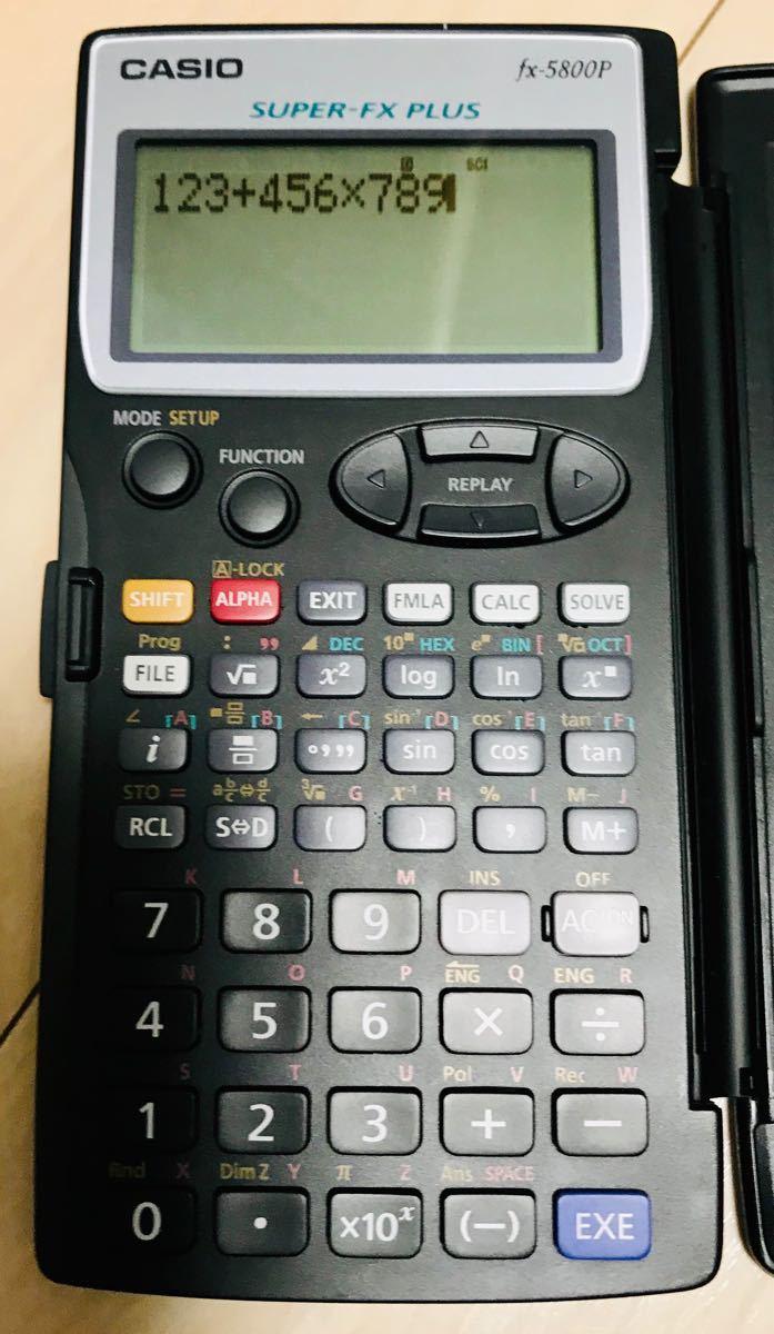 カシオ(CASIO)プログラム関数電卓 fx-5800P(本体のみ)