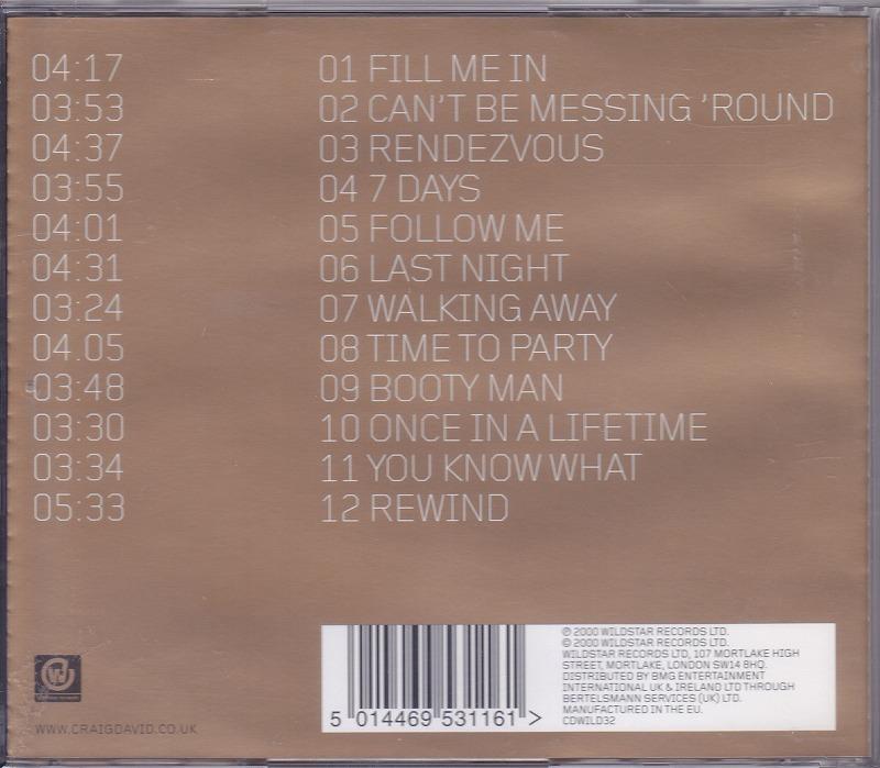CRAIG DAVID / BORN TO DO IT /EU盤/中古CD!! 商品管理番号:44507_画像2