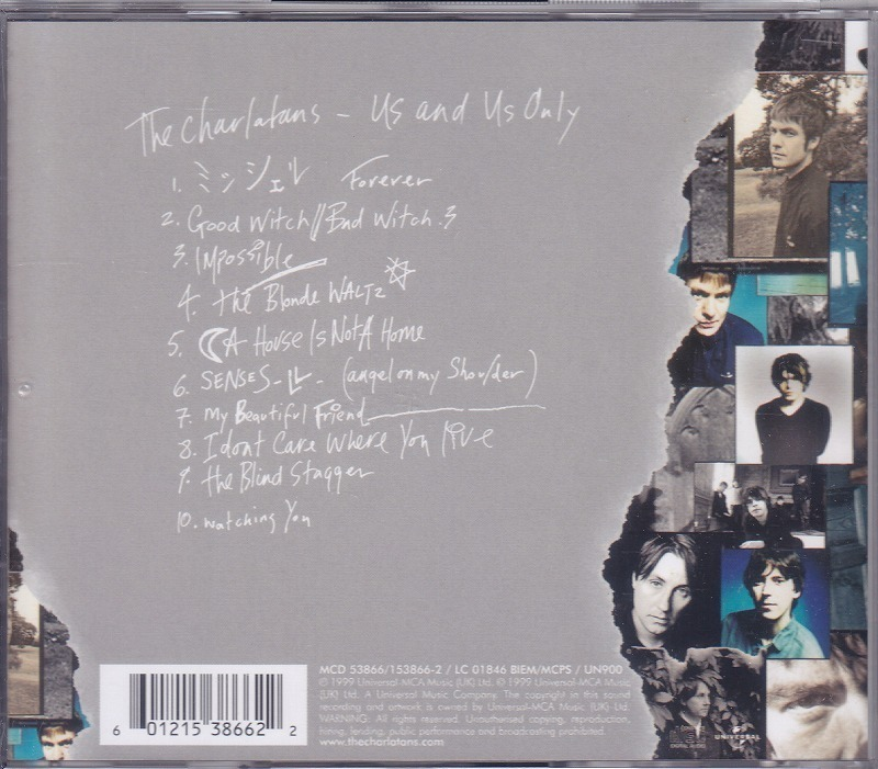 THE CHARLATANS / US AND US ONLY /EU盤/中古CD!! 商品管理番号:44521_画像2