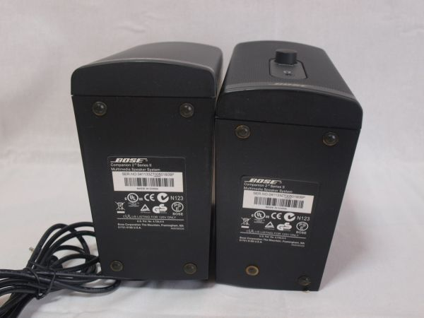 1円BOSE Companion2 Series IIマルチメディアスピーカー黒コンパニオン2/ボーズ/パソコン用/PC/小型/コンパクト/アンプ内蔵/ジャンク/ペア_画像4