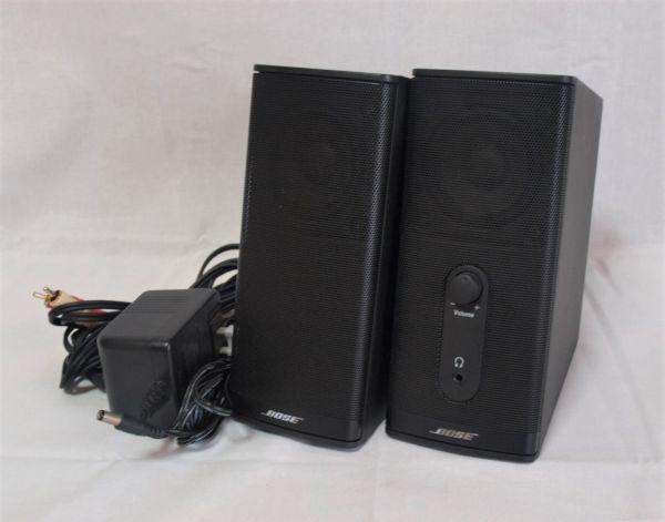 1円BOSE Companion2 Series IIマルチメディアスピーカー黒コンパニオン2/ボーズ/パソコン用/PC/小型/コンパクト/アンプ内蔵/ジャンク/ペア_画像1