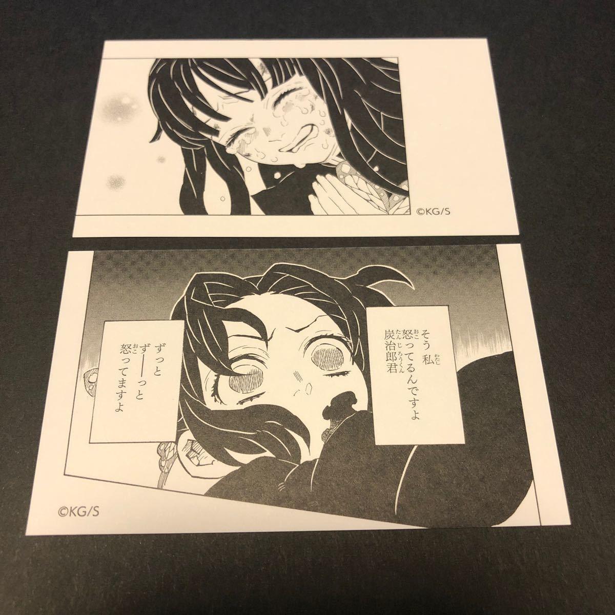 『 鬼滅の刃 』 名刺カードコレクション ● 栗花落カナヲ&胡蝶しのぶ 正規品