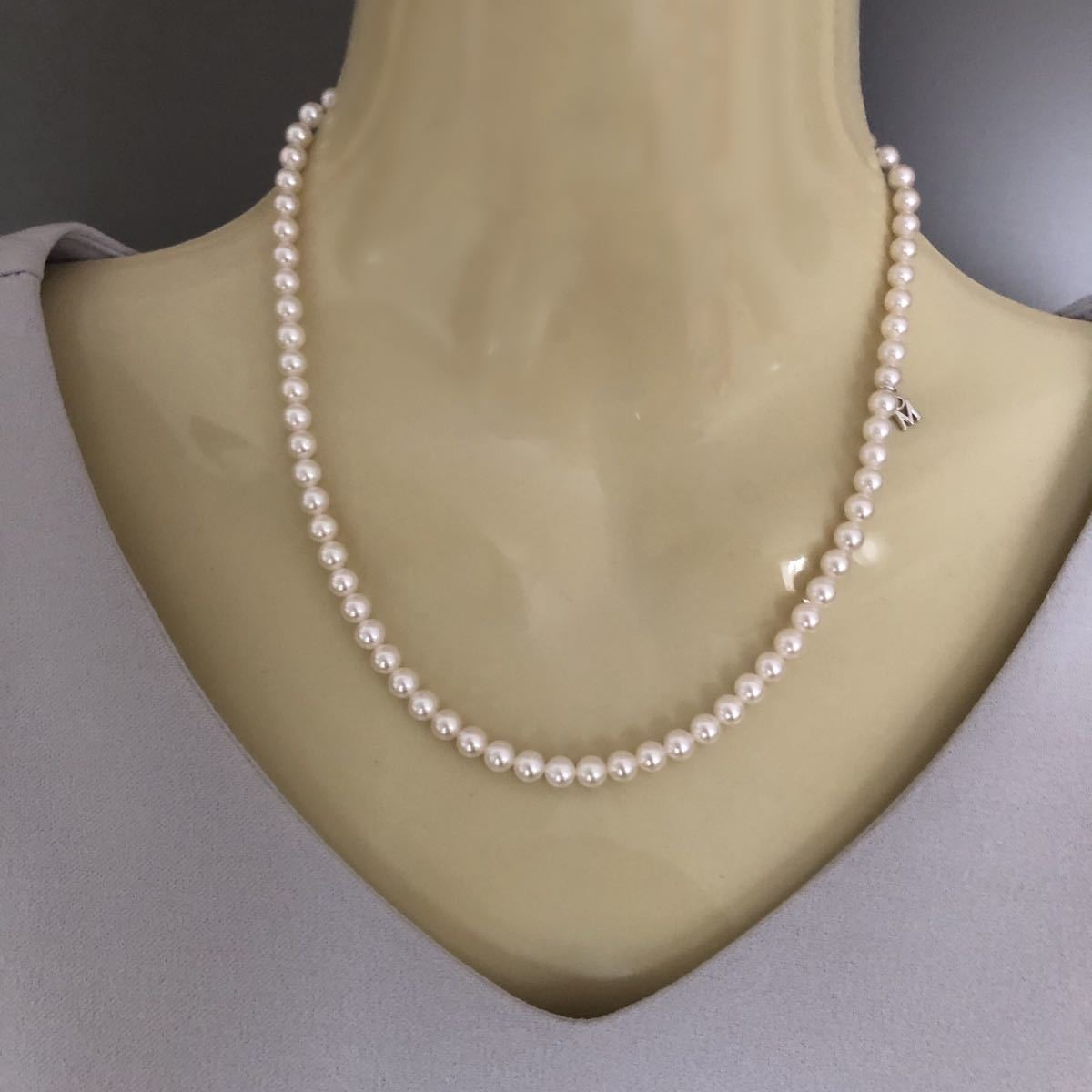 MIKIMOTO ミキモト アコヤパールネックレス SIL 5mm_画像8