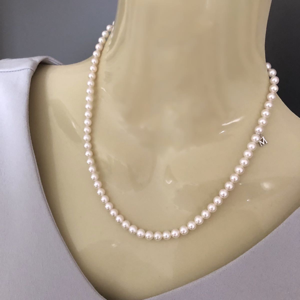 MIKIMOTO ミキモト アコヤパールネックレス SIL 5mm_画像9